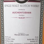 MOS Auchentoshan 2000 wine cask label